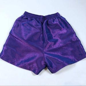 Vintage 90s Iridescent Beach Shorts